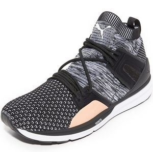 Puma Blaze of Glory Black/White/Tan Limitless Hi Evoknit Sneakers size 11